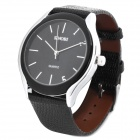 SINOBI Stylish PU Leather Band Quartz Wrist Watch - Black (1 x 626)