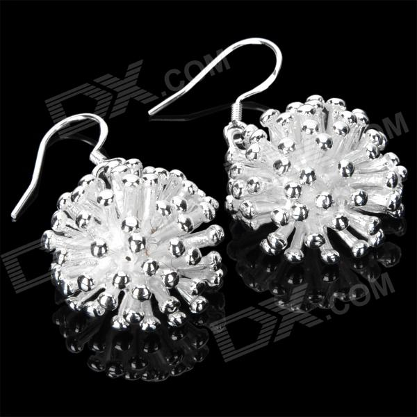 Elegant Sea Urchin Style Earrings - Silver + White (Pair) sea of spa крем морковный универсальный 500 мл