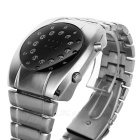 Fashion Man's Stainless Steel Band Digital LED Electronic Waterproof Wrist Watch - Deep Grey