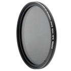 Ultra-Slim Variable Neutral Density ND2-ND400 Fader Filter - Black (62mm)