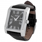 SINOBI PU Leather Band Quartz Wrist Watch - Black (1 x 626)
