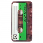 Vintage Cassette Tape Style Protective PC Back Case for Iphone 4 / 4S - Green