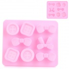 Silicone Candy Shaped Ice Cubes Trays Maker DIY Mould - Pink