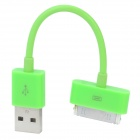 USB Sync Data / Charging Cable for iPhone 4 / 4S - Green (12.5cm)