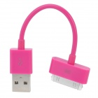 USB Sync Data / Charging Cable for iPhone 4 / 4S - Deep Pink (12.5CM)
