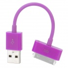 USB Sync Data / Charging Cable for iPhone 4 / 4S - Purple (12.5cm)