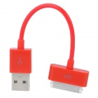 USB Sync Data / Charging Cable for iPhone 4 / 4S - Red (12.5cm)