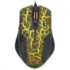 USB Wired 800 / 1600 / 2400 / 3200DPI Gaming Optical Mouse - Black + Yellow