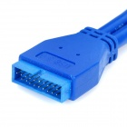 USB 3.0 Mainboard 20-Pin Male to 20-Pin Male Extension Cable - Blue (50cm)
