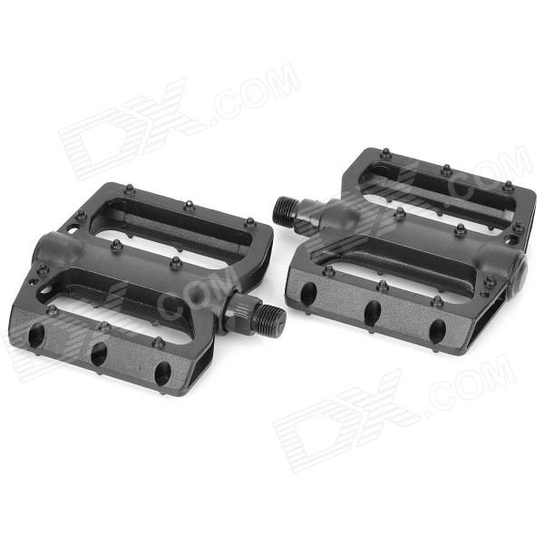 Replacement Aluminum Alloy Bike Bicycle Pedals - Black (Pair) mtb mountain road dh fr bmx fixed gear cycling bicycle bike pedal 9 16 in titanium axle alloy body 3 sealed bearing 100 95 17mm