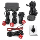 4-Sensor Car Ultrasonic Backup / Parking Sensor System - Red