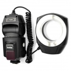 ML-150 5600K White LED Light Macro Ring Flash Light for SLR Camera - Black (4 x AA)
