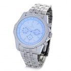 Genuine IK Colouring Water Resistant Mechanical Wrist Watch w/ Unreal Colour Glass - White + Silver