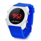 Fashion Silicone Band LED Wrist Watch - Blue + White
