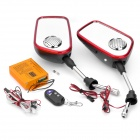 SP-A02 Motocycle MP3 Alarm Audio + Rearview Mirrors w/ Speaker + Remote Controller Kit