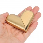 Folding Heart Shaped Butane Gas Lighter - Golden