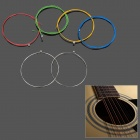 Colorful Coated Copper Alloy Wound Acoustic Guitar Strings (6-Piece Pack)