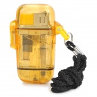 Stylish Windproof Water Resistant Butane Jet Lighter - Yellow