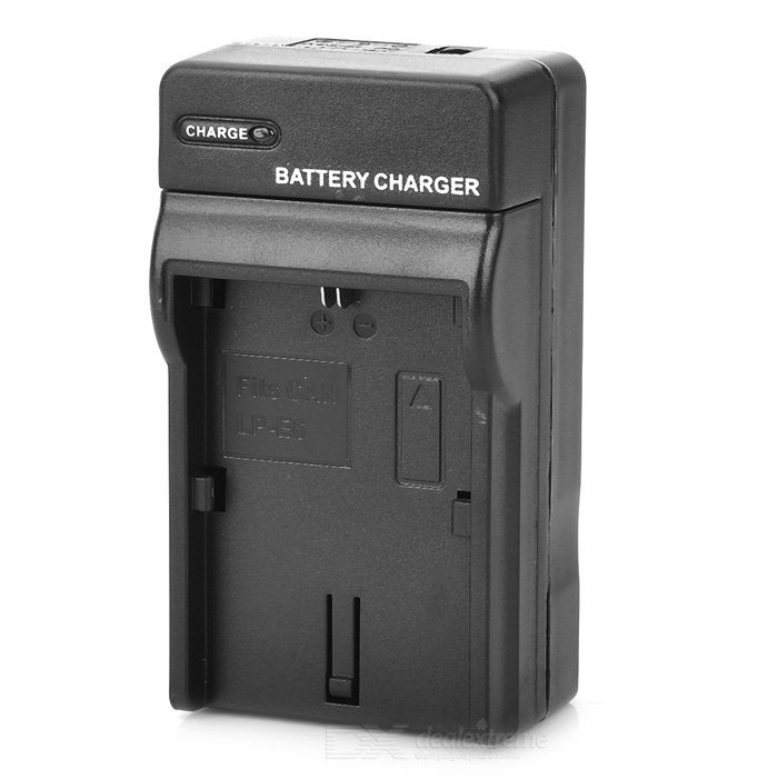Câmera portátil Battery Charger w / Built-in plug-nos para Canon LP-E6 - Black