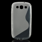 Protective TPU Back Case for Samsung Galaxy S3 i9300 - Transparent White