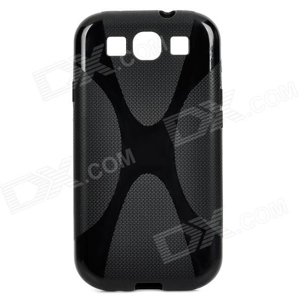 X Style Protective Silicone Back Case for Samsung Galaxy S3 i9300 - Black free shipping 5pcs lot mcp601 i p mcp601 dip offen use laptop p 100% new original