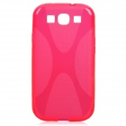 """X"" Style Protective TPU Back Case for Samsung Galaxy S3 i9300 - Deep Pink"