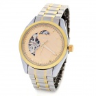 SINOBI Stainless Steel Band Round Dial Mechanical Wrist Watch - Golden
