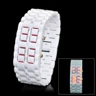 New Concept Lava LED Red Backlight Wrist Watch - White (1 x CR2032)