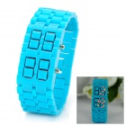 New Concept Lava LED Red Backlight Wrist Watch - Light Blue(1 x CR2032)