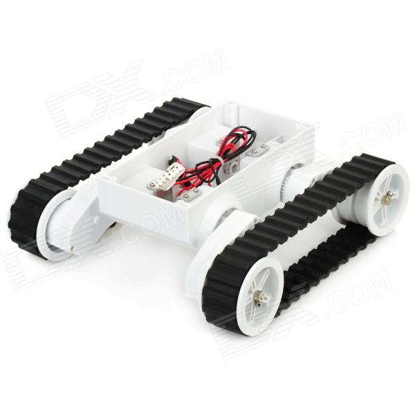 Smart Rover 5 Tracked Robot Chassis - White + Black (6 x AA) human body interaction music playing game toy white pink 2 x aa