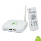 GV-16 Mini Android 4.0 Network Multi-Media Player w/ WiFi / HDMI / USB / TF / LAN - White (4GB)