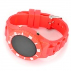 Sports Water Resistant Round Dial Red LED Wrist Watch - Red (1 x CR2032)