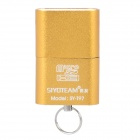 USB 2.0 TF Memory Card Reader - Golden (32GB Max.)