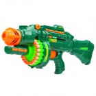 Cool Semi-automatic Machine Soft Bullet Gun Toy - Green (6 x AA)