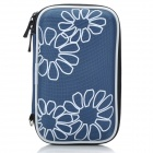 "Protective Hard Shockproof Bag Case for 2.5"" Hard Disk Drive - Grey Blue"