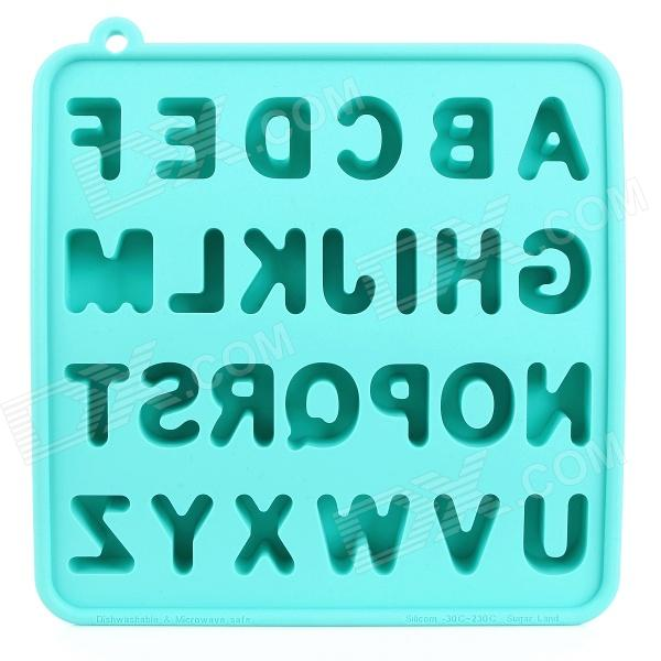 Silicone Letter Alphabet Shaped Ice Cubes Trays Maker DIY Mould ...