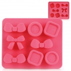 Silicone Candy Shaped Ice Cubes Trays Maker DIY Mould - Deep Pink