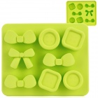 Silicone Candy Shaped Ice Cubes Trays Maker DIY Mould - Green