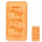 Silicone Fishbone Shaped Ice Cubes Trays Maker DIY Mould - Yellow