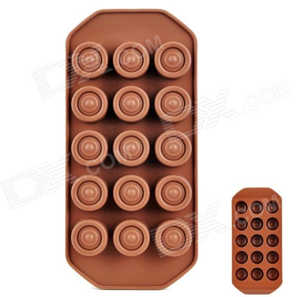Silicone Round Chocolate Shaped Ice Cubes Trays Maker DIY Mould - Brown silicone skeleton shaped ice cubes trays maker diy mould random color