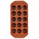 Silicone Round Chocolate Shaped Ice Cubes Trays Maker DIY Mould - Brown