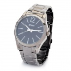 Concise SNOBI 9311 Tungsten Steel Band Quartz Wrist Watch - Black (1 x 626)