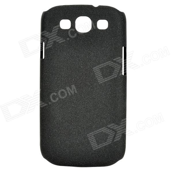 Protective PC Back Case w/ Screen Protector for Samsung Galaxy S3 i9300 - Black
