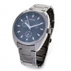 Fashion SINOBI Men's Tungsten Steel Band Quartz Wrist Watch - Black (1 x 626)