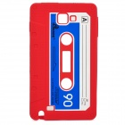 Stylish Cassette Tape Style Protective Silicone Back Case for Samsung Galaxy Note i9220 - Red