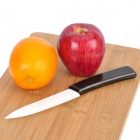 "4"" Chic Chefs Horizontal Ceramic Knife - White + Black (10.5cm-Blade)"