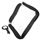 Folding Lambency Cloth Soft Box w/ Holder / Lambency Cloth / Square Bag - Black + White (60 x 60cm)
