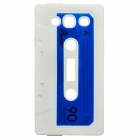 Stylish Cassette Tape Style Protective Silicone Back Case for Samsung Galaxy S3 i9300 - White