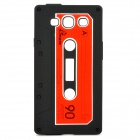 Stylish Cassette Tape Style Protective Silicone Back Case for Samsung Galaxy S3 i9300 - Black
