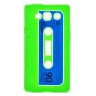 Stylish Cassette Tape Style Protective Silicone Back Case for Samsung Galaxy S3 i9300 - Green
